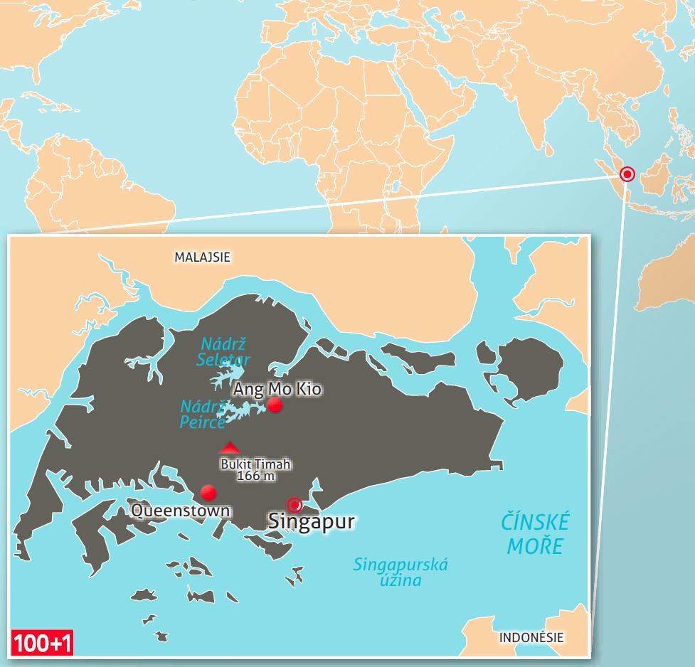singapur mapa sveta Singapur: Lví město se silou tygra | 100+1 zahraniční zajímavost singapur mapa sveta