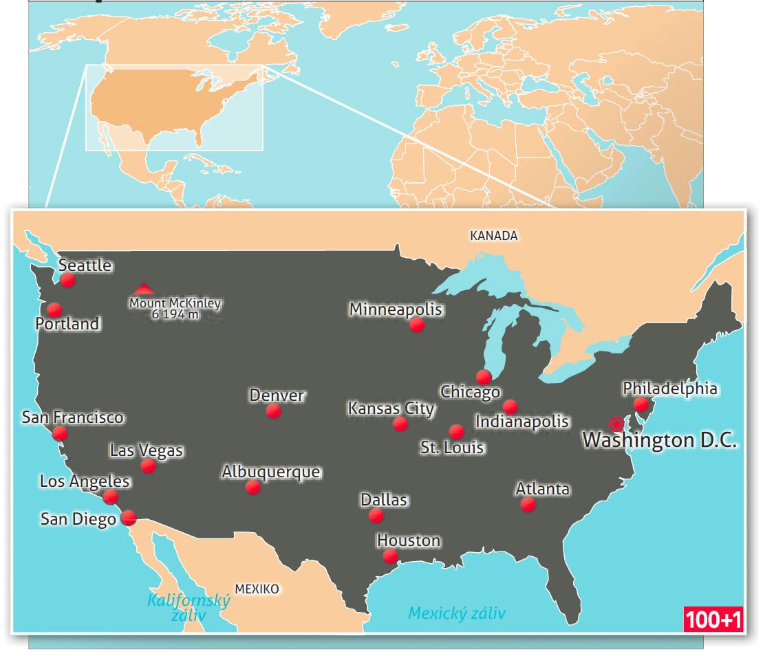Usa Neznama Tvar Ameriky 100 1 Zahranicni Zajimavost