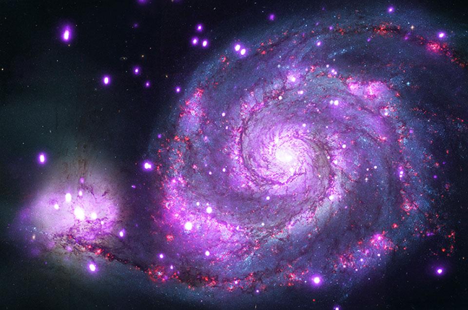 Spirální M51: Rentgenové záření z Vírové galaxie odhaluje ...